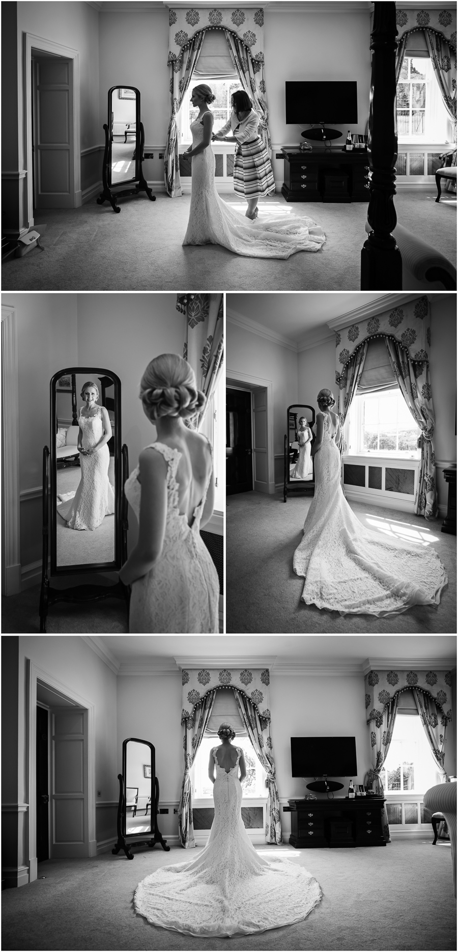 Denton Hall Wedding - bride getting ready