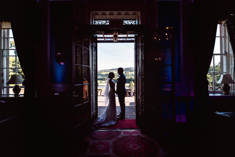 Denton Hall Wedding - couple silhouette