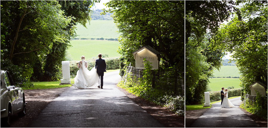 Wedding at Wood Hall - couple portraits