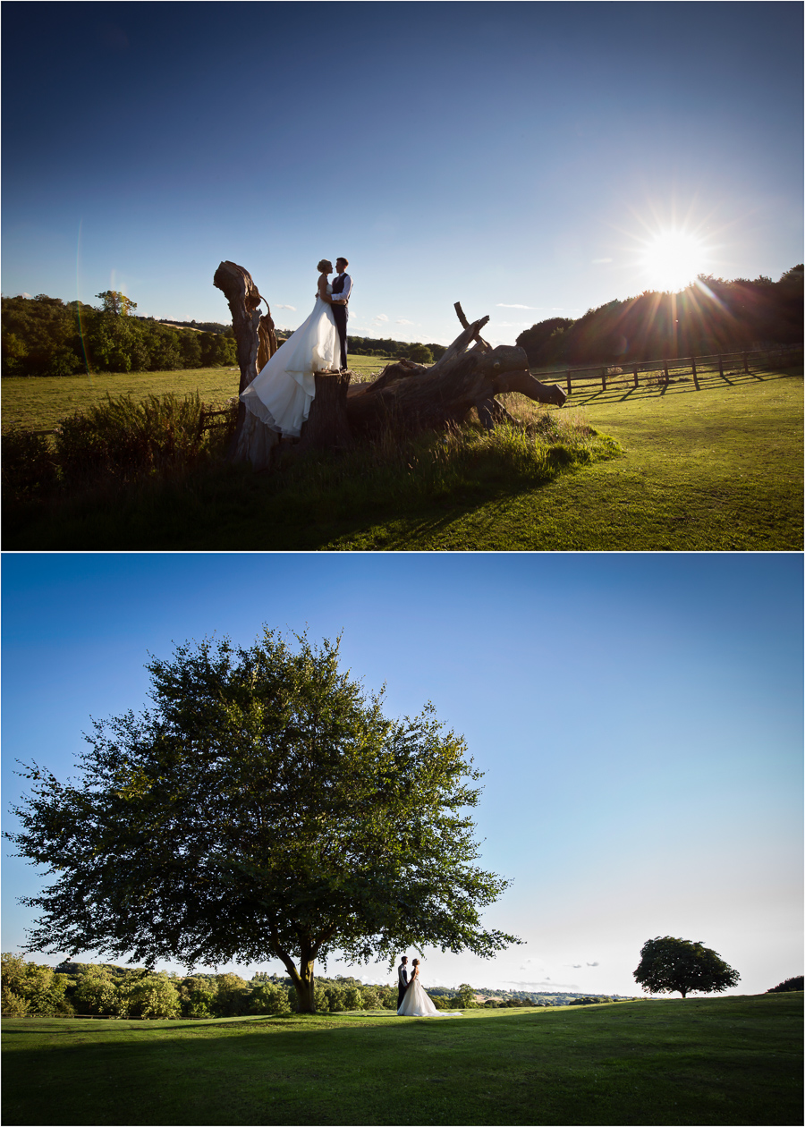 Wedding at Wood Hall - couple portraits in the stunning grounds
