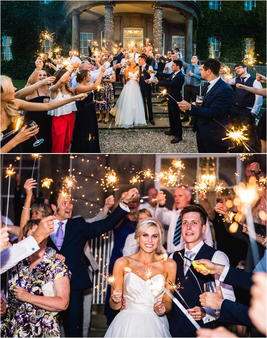 Wedding at Wood Hall - sparkler photos