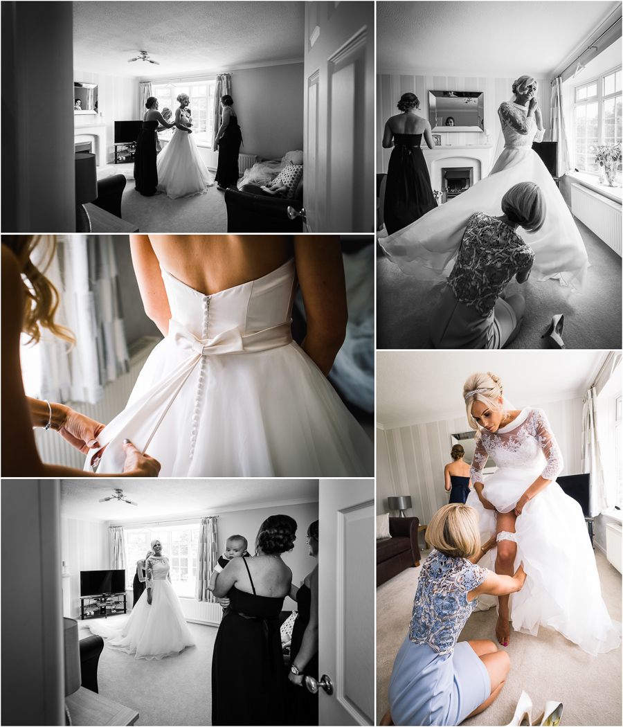 Wedding at Wood Hall - Bride getting ready