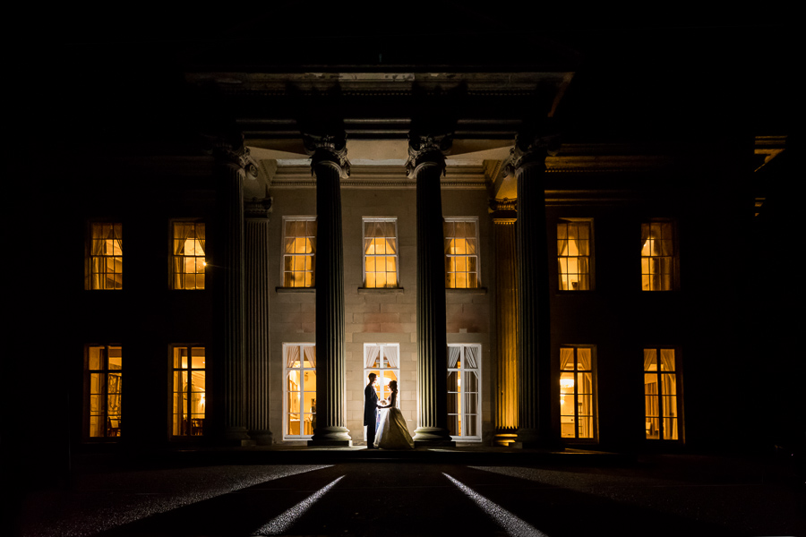 Wedding at The Mansion - night time couple portrait