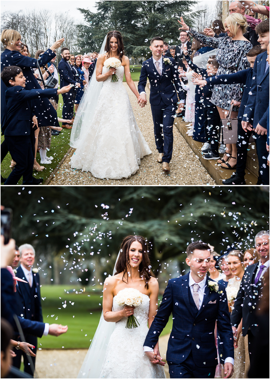 confetti shot at Bowcliffe Hall