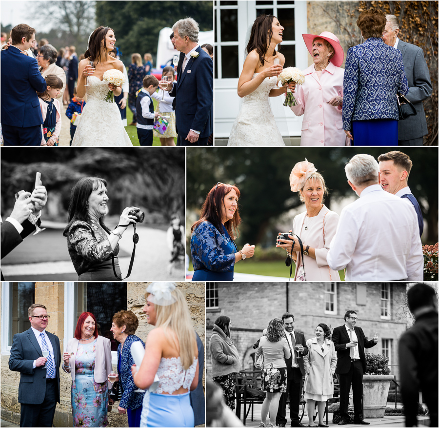 yorkshire wedding photographer - guests chatting