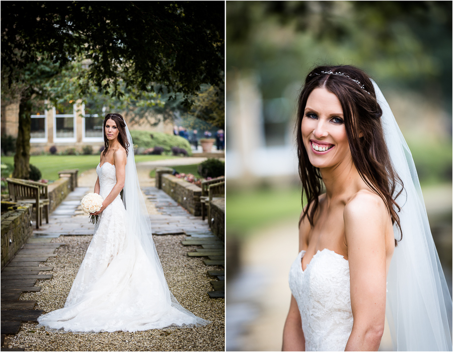Bowcliffe Hall bride portraits