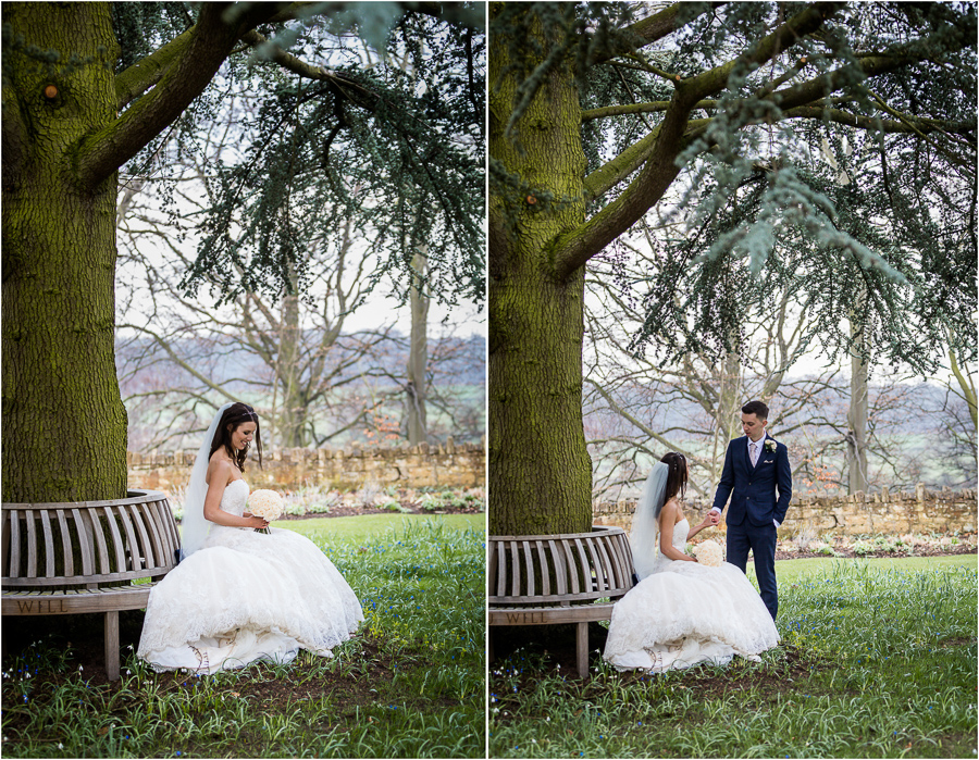 yorkshire wedding photographer - couple under tree