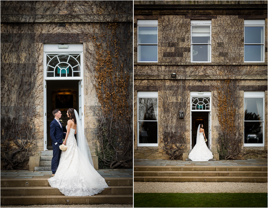 yorkshire wedding photographer - couple portraits outside Bowcliffe Hall