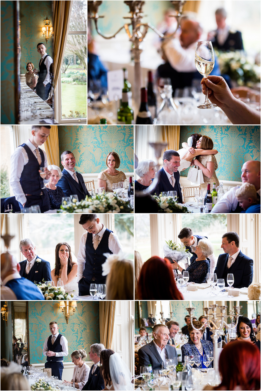 yorkshire wedding photographer - speeches at bowcliffe hall