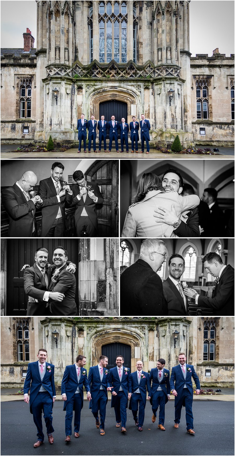 yorkshire wedding photographer - groomsmen at the chapel