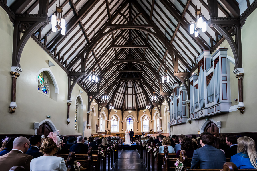 yorkshire wedding photographer - view inside St Peter's school chapel