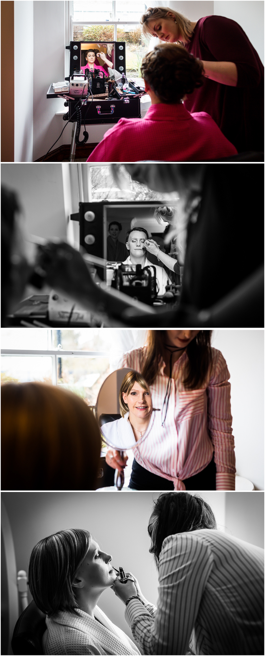 yorkshire wedding photographer - bride getting ready