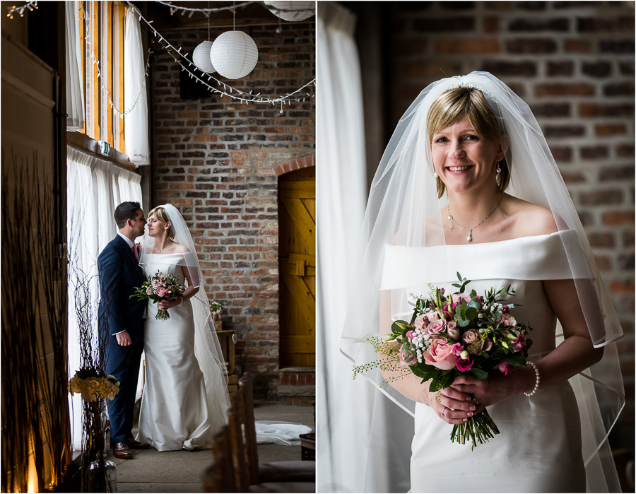 yorkshire wedding photographer - Barmbyfield barns wedding couple