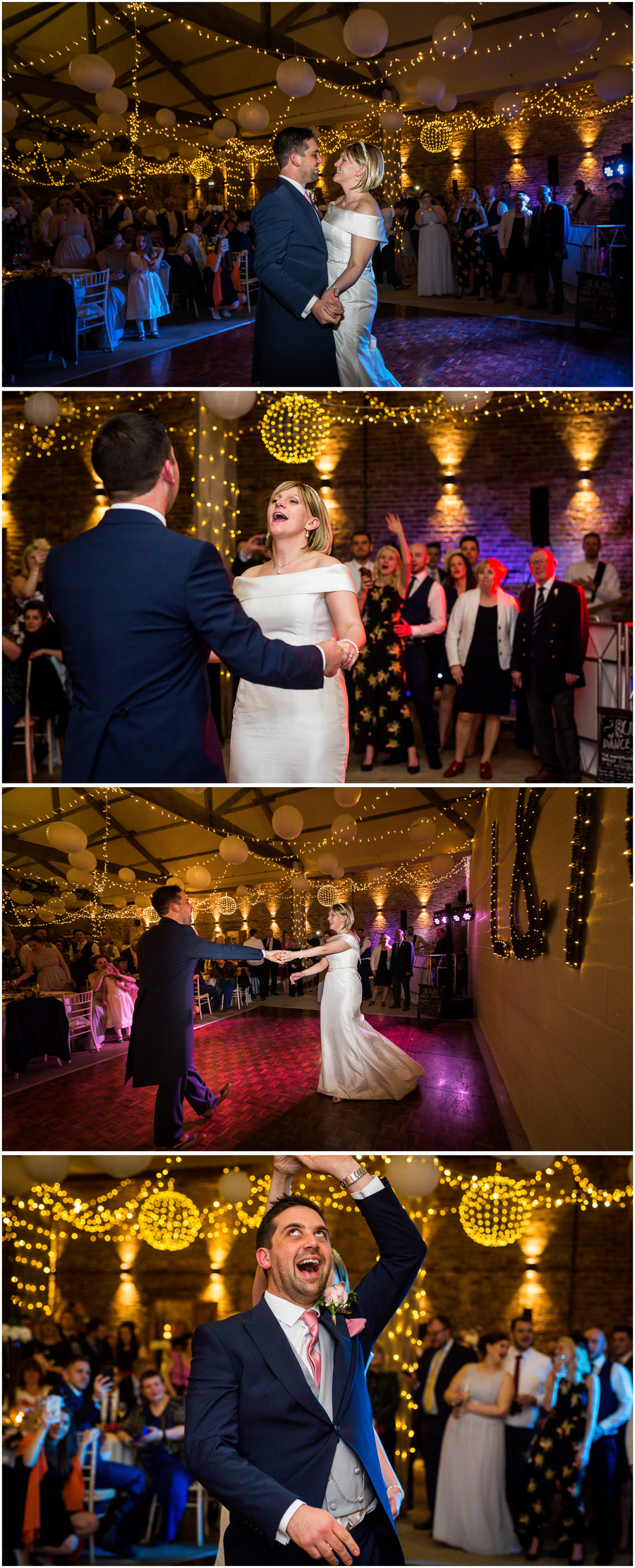 Barmybyfields barns wedding photography - first dance
