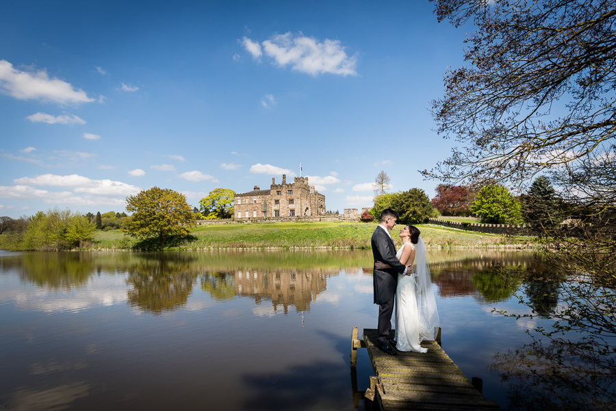 couple on the jetty at Ripley Castle