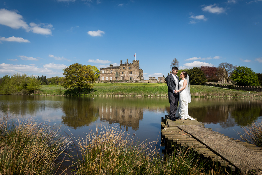 wedding couple photograph at ripley castle