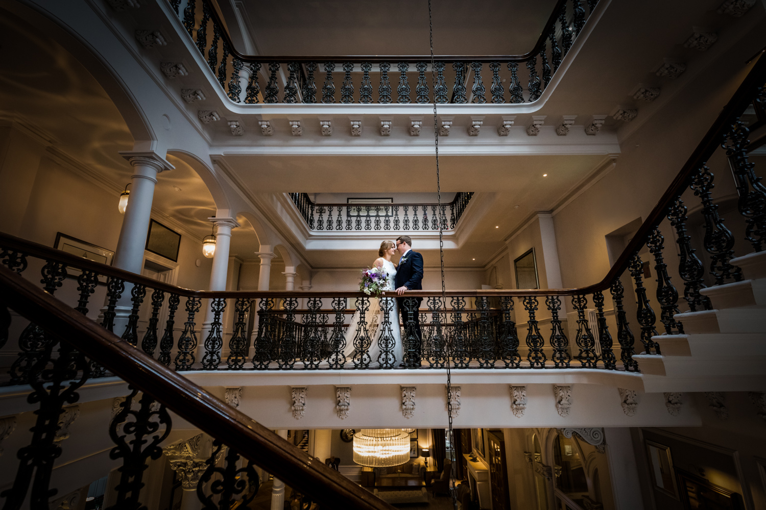 The Principal Hotel York Wedding Photography - bride and groom portrait