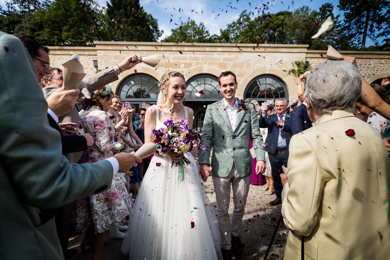 Middleton Lodge Wedding Photography - confetti shot