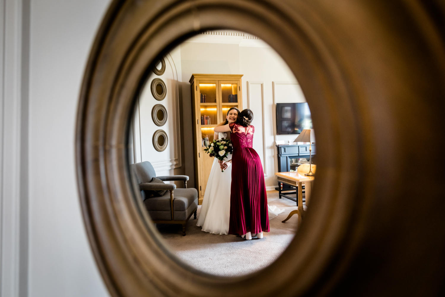 Principal Hotel York Wedding Photographer - Bride and bridesmaid
