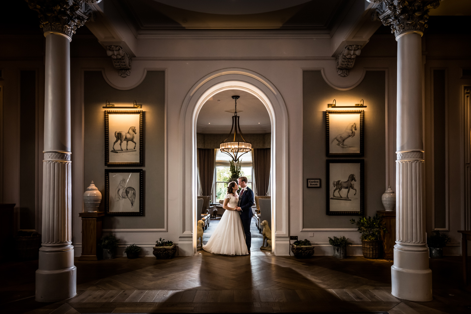 Principal Hotel York Wedding Photographer - Portrait of bride & groom