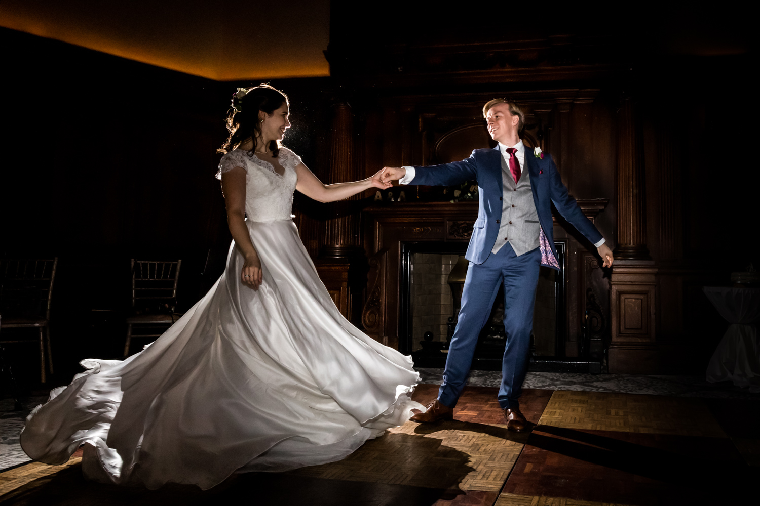 Principal Hotel York Wedding Photographer - couple's first dance